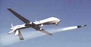 Predator Drone Firing Hellfire Missile